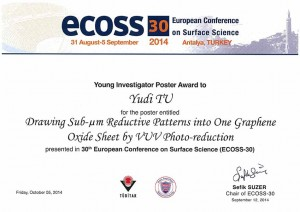 Award certification ECOSS30